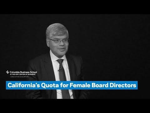 California's Quota for Female Board Directors