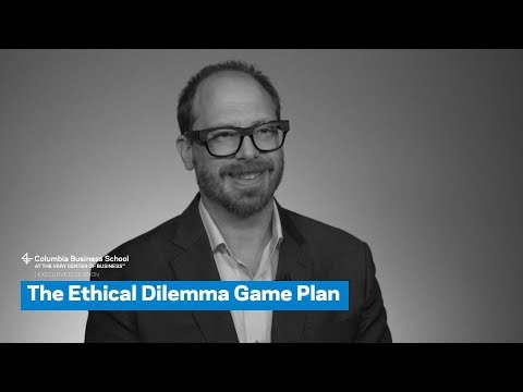 The Ethical Dilemma Game Plan