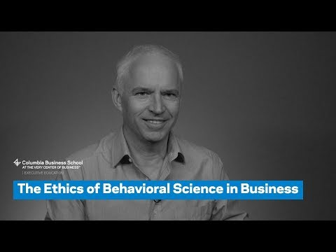 The Ethics of Behavioral Science in Business