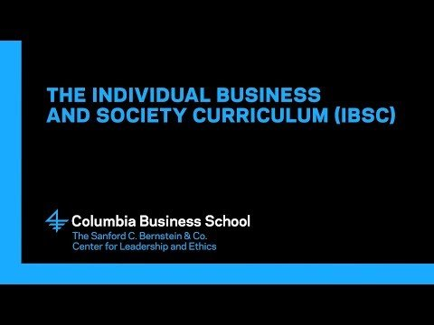 The Individual Business and Society Curriculum (IBSC)
