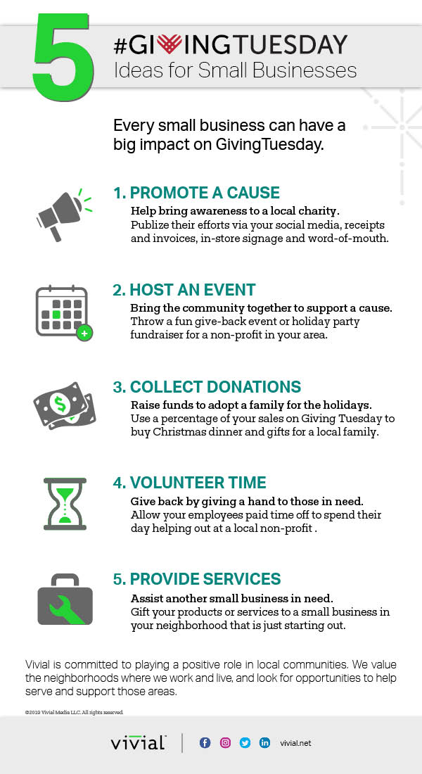 INFOGRAPHIC_5 Giving Tuesday Ideas for Small Businesses