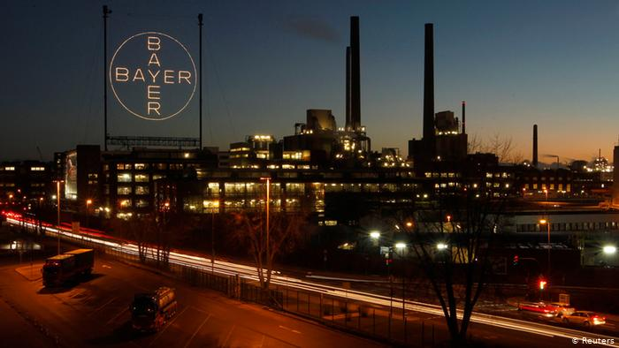 Plant belonging to Germany's largest drugmaker Bayer in Leverkusen (Reuters)