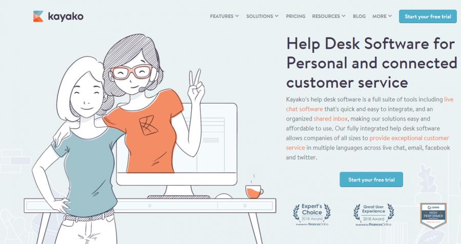 Kayako best help desk software