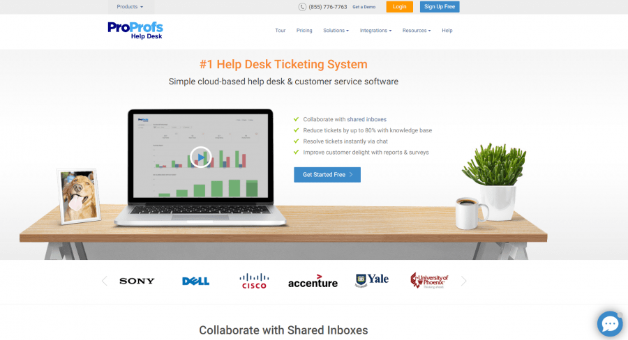 ProProfs best help desk software