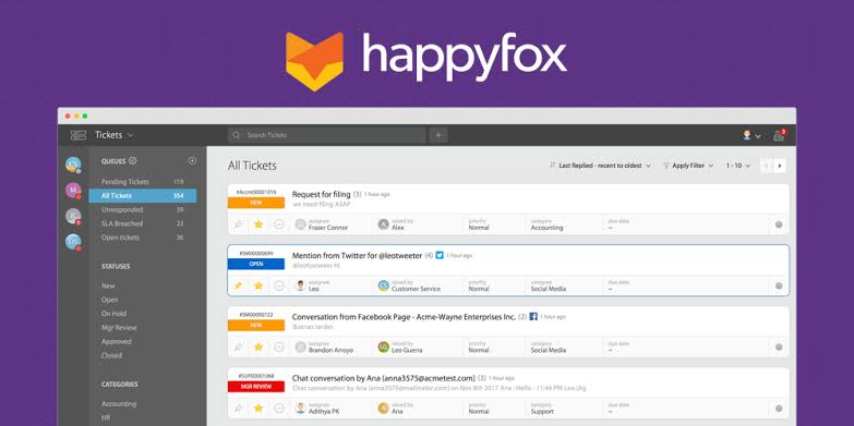 Happyfox best help desk software