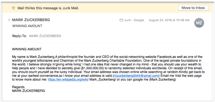 cold email spam email
